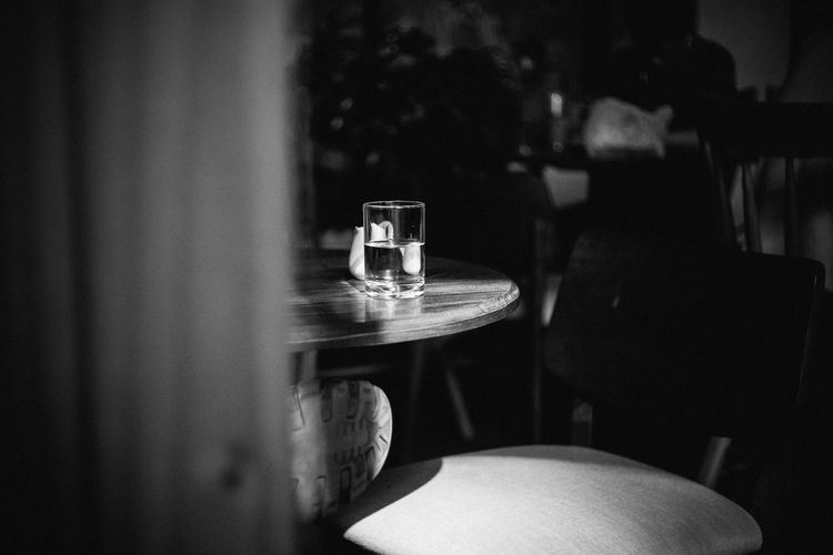 bnw Bnw Bnw_collection Bnw_friday_eyeemchallenge Close-up Drinking Glass Food And Drink Hoang Ann No People Table Water Week On Eyeem Wineglass