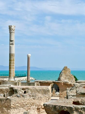 Ancient Architecture Ancient Civilization Ancient Ruins Architecture Blue Blue Sky Building Exterior Built Structure Carthage Day Horizon Over Water Nature No People Ocean Outdoors Ruins Sea Sky Sun Tunis Tunisia Tunisie Water The Week On Eyem The Week On EyeEm