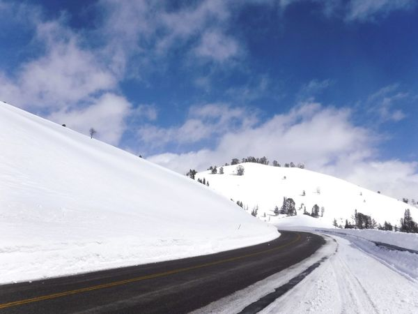 The Powder Highway Curves White And Blue Snow Covered Backwoods Public Land Sun Valley Idaho Ski Destination Road Winter Travels Travel Mountains And Sky Season  Wilderness Backcountry Road Trip White Mountain Pass Sking Winter Sport Winter Time Remote Place Scenics Winter Transportation Mountain Scenics - Nature Nature Beauty In Nature Landscape No People