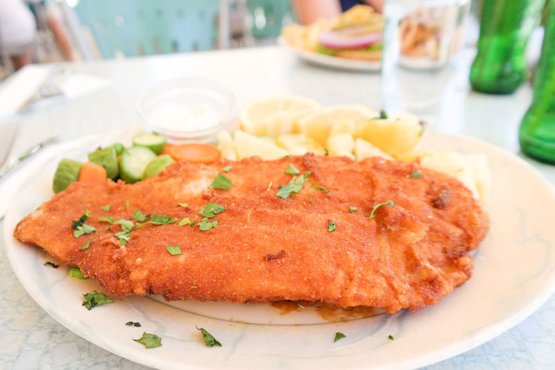 Fish and Chips Close-up Fish And Chips Focus On Foreground Food Foodphotography Foodporn Freshness Indulgence Meal Meat No People Plate Ready-to-eat Selective Focus Served Serving Size Still Life Summerimissyou Temptation Travel Traveling Tsilive Zakynthos