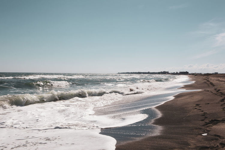Beautiful beach and incredible sea in Pomorie, Bulgaria. Beautiful Travel Background Backgrounds Beach Beauty Beauty In Nature Blue Land Landscape Motion Nature Ocean Outdoors Relax Sand Sandy Beach Scenics - Nature Sea Sky Summer Tropical Tropical Climate Water Waterfront