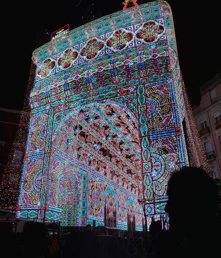 Taking Photos Calles Iluminadas Streetart Hello World Monument Fallas 2016 Colorful Ayuntamiento Valencia Valencia, Spain Color Explosion