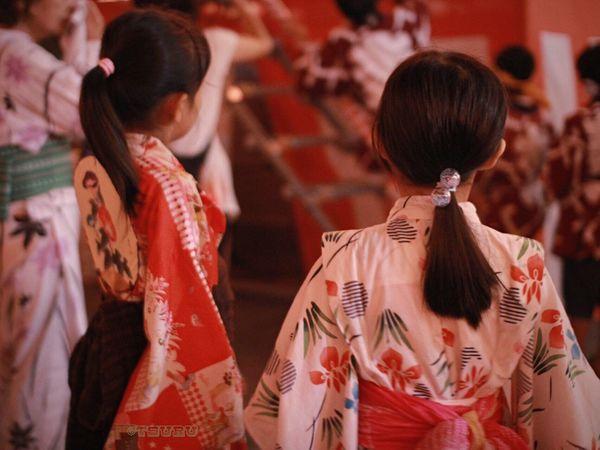 ゆかた 盆踊り YUKATA Kimono Japanese  Bon Dance Festival Girls Collected Community Japanese Culture Summer Night Friends Introducing Culture Of Japan Which Must Be Left To The Future…… 未来に残す日本の文化 A Day Of Tokyo Traditional Culture Bon Dance