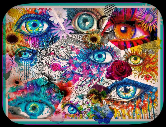Windows To The Soul Eyes Trippy Vibrant Art I Did This