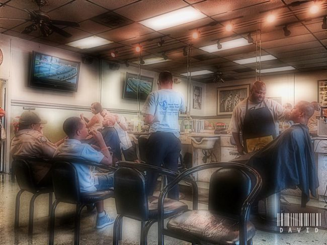 Dreamy Shop Barber Shop Candid HDR HDR Collection