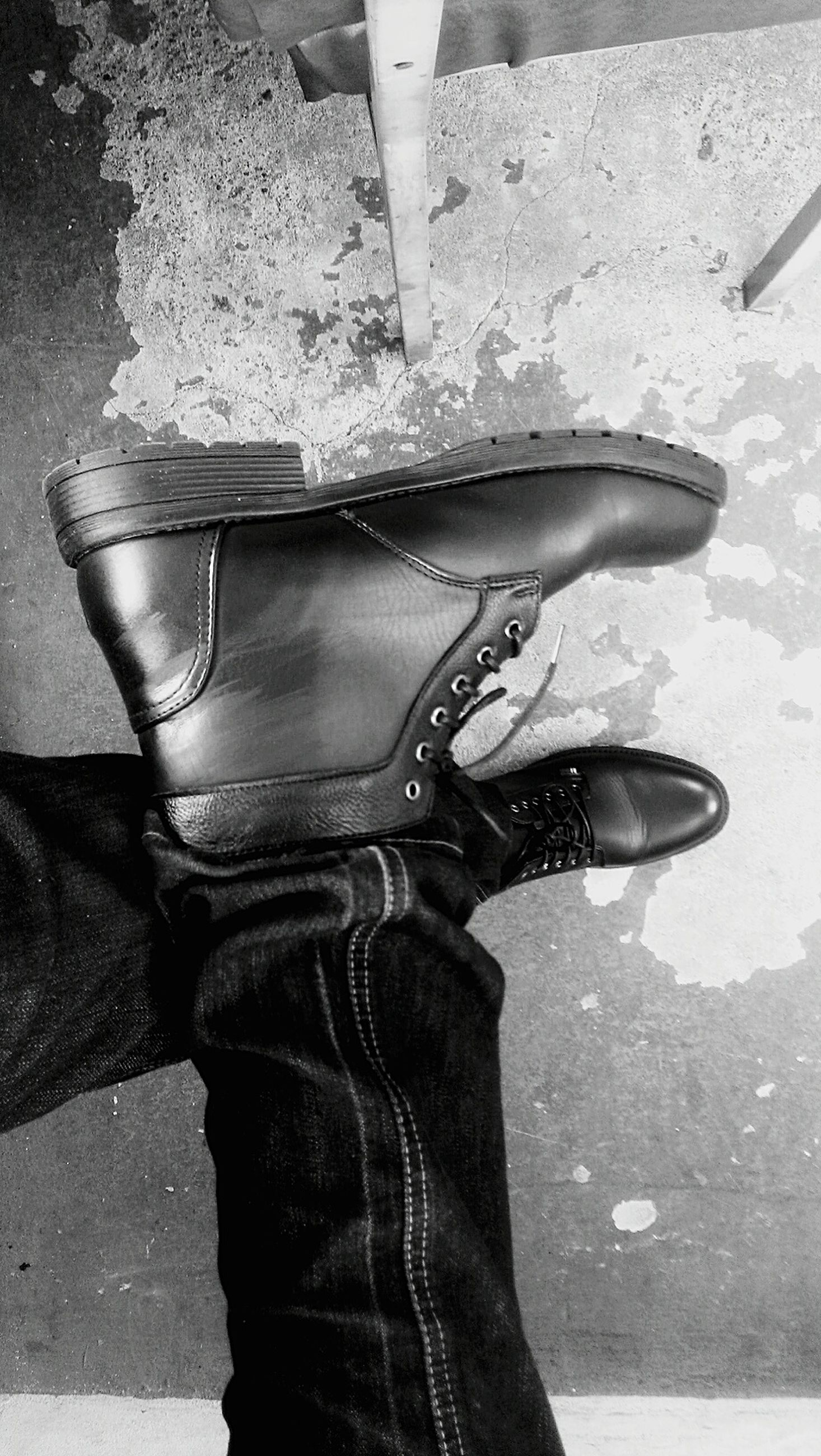low section, person, shoe, lifestyles, standing, footwear, personal perspective, human foot, fashion, jeans, leisure activity, street, part of, casual clothing, high angle view, close-up