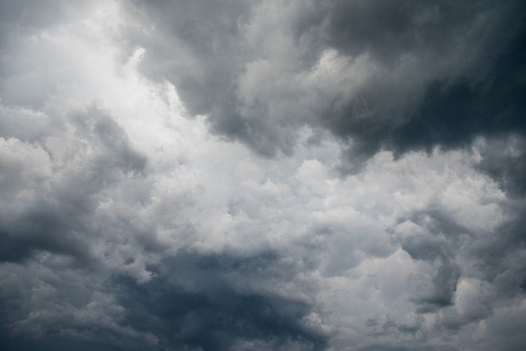 Low angle view of storm clouds in sky