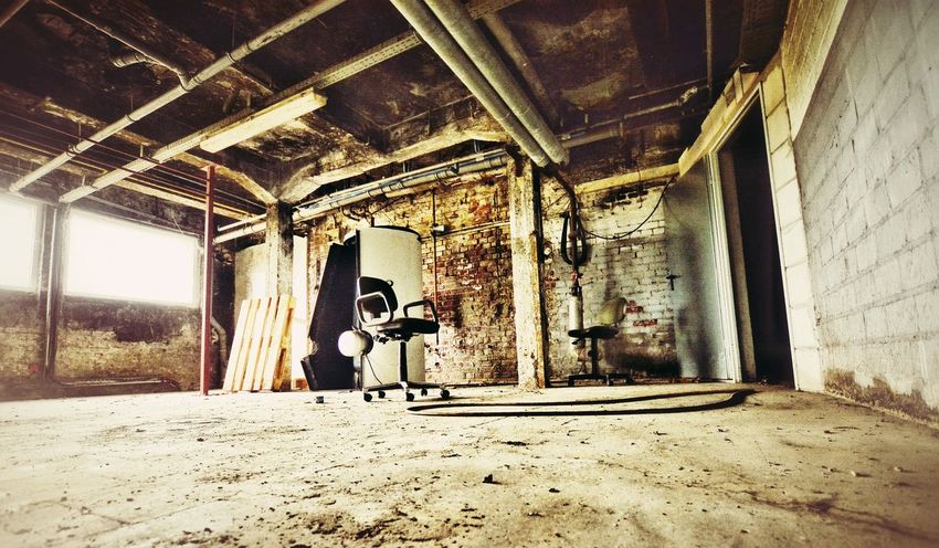 Urbex Urbexexplorer Urbexphotography Light And Shadow Low Angle View EyeEm Abandoned Abandoned Chair Brick Wall Room Open Door