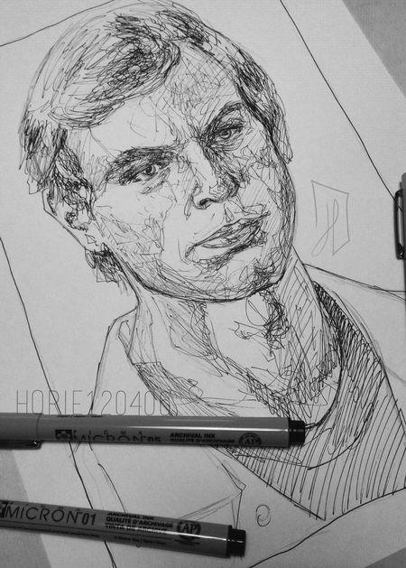 Dahmer. Art ArtWork Artist Art, Drawing, Creativity Blackandwhite Portrait Doodling Doodle Doodleart Micron Jeffreydahmer Dahmer