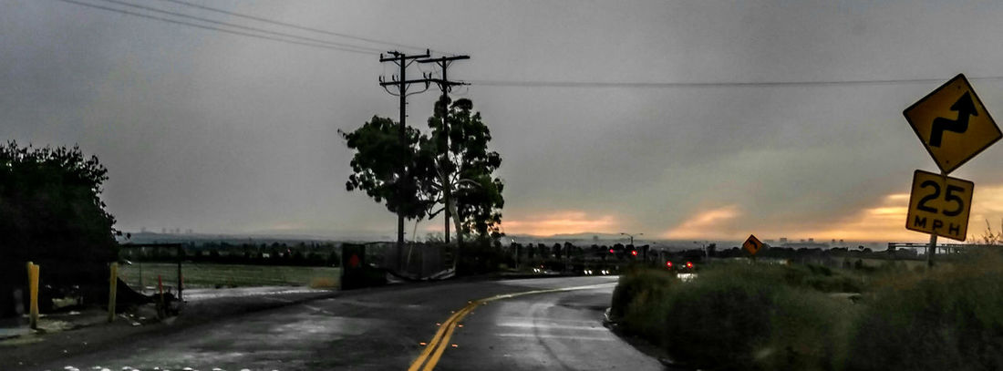 Rain Road Horizontal Cloud - Sky No People Environment Landscape_Collection Landscape_photography Landscape Streetphotography Street Photography Street Photo Afternoon Light Tranquil Scene Golden Hour Streets Without People Irvine, California. Rainy Sky Rainy Sunday Rainy Day Photography Wet Roads Outskirts Of Town Tree Rain Road