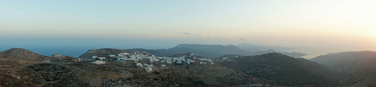 #Panorama Aegean Amorgos Greece Idyllic Island Landscape Panoramic Sunset Travel Travel Destinations View View From Above