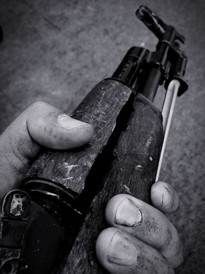 Dirty Hands Dirty Weapon Gun AK47 War Firearms Shades Of Grey Black And White Black & White Blackandwhite IPhoneography Smartphonephotography Assault Rifles Military Army Soldier Black&white Hands Human Hand Human Body Part Monochrome Photography