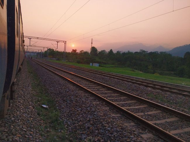 Sunset Agriculture Nature Day Railroad Track Outdoors Sky No People Shot On One Plus 3 Nature Landscape Tree Field India Mountain Beauty In Nature Vaishno Devi Cloud - Sky The Week On Eyem The Way Forward