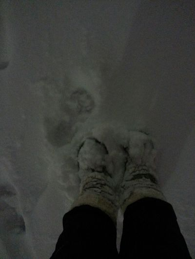 Floortraits snow covered boots