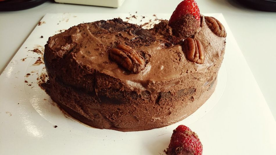 Chocolate Cake Delicious ♡ Strawberry Peacan Like Missit