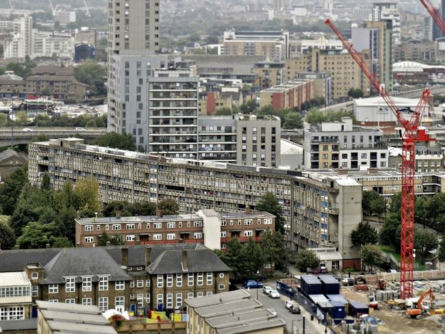 Aerial View Architecture Brutalist City Cityscape Day High Angle View Housing Estate Outdoors Robin Hood Gardens