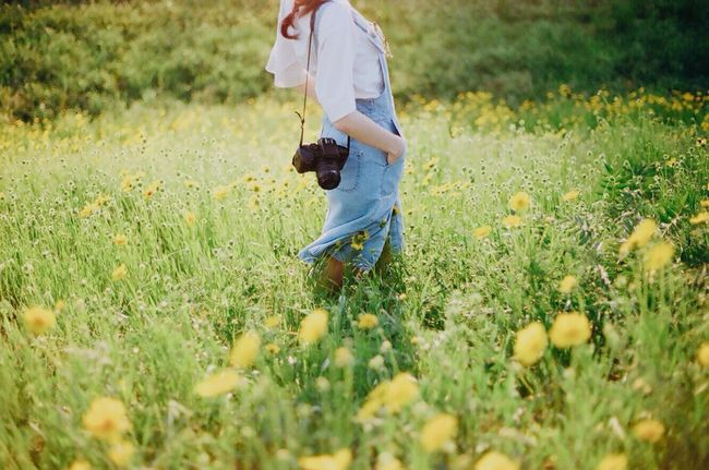 Film Photography 35mm Film Filmisnotdead Analogue Photography Capture The Moment Woman Day Casual Clothing Nature Grass Beauty In Nature Flower Korea Camera