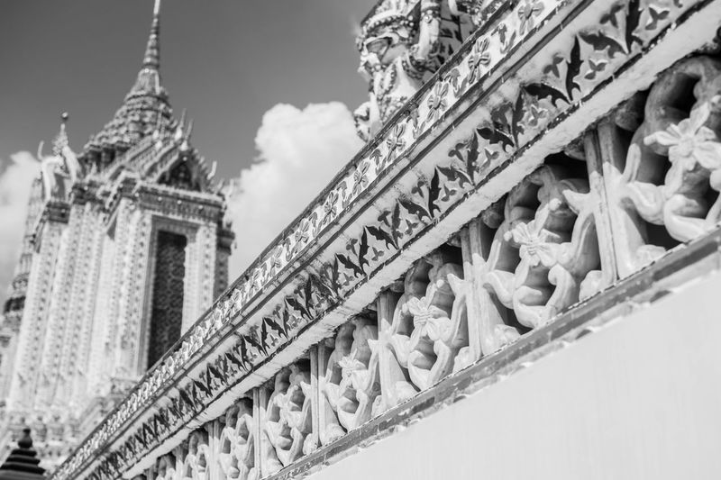 Bangkok Thailand Architecture Close-up Day Low Angle View No People Outdoors Sky Text Watarun