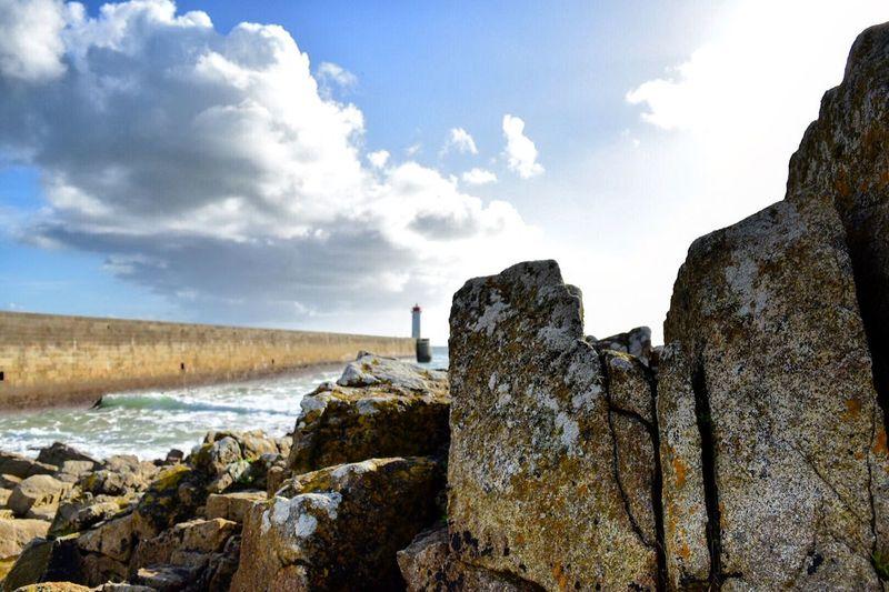 #audierne #finistere #bretagne #mer #france #beach #rocher #cielbleu #sea #plage #rock #bluesky #photographer #adventure #d5500 #nikon #francais First Eyeem Photo