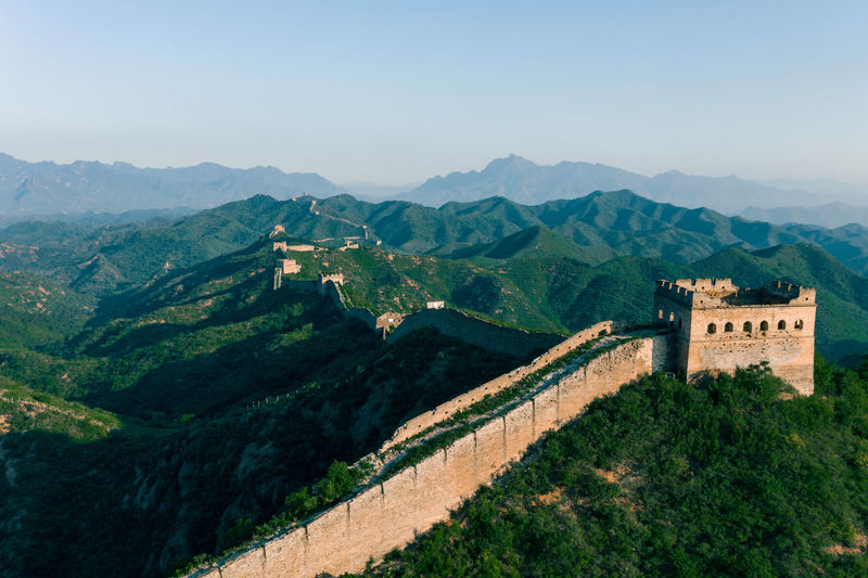 Great Wall of Summer Ancient Civilization No People Tree Day Plant Fort Environment Building Sky The Past Mountain Range Scenics - Nature History Architecture History Building Exterior Mountain Travel Destinations Travel China Culture Landmark Beijing Landscape Summer Outdoors Beauty In Nature Nature Architecture China Great Wall Of China Tower Great Wall Great Wall Of China