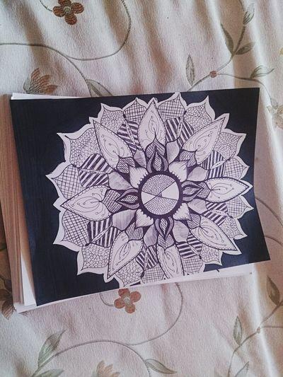 Draw Mandala Mandala Art Flower
