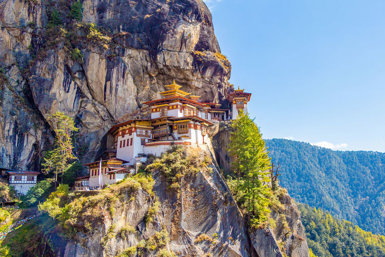 ASIA Architecture Buddhist Monastery Taktsang Tiger's Nest Architecture Belief Bhutan Buddhism Building Building Exterior Built Structure Cliff Day Formation Heritage Mountain Mountain Range Nature No People Outdoors Paro Paro Taktsang Place Of Worship Religion Rock Rock - Object Rock Formation Solid Temple The Past Tigers Nest Traditional Travel Travel Destinations World Wonder