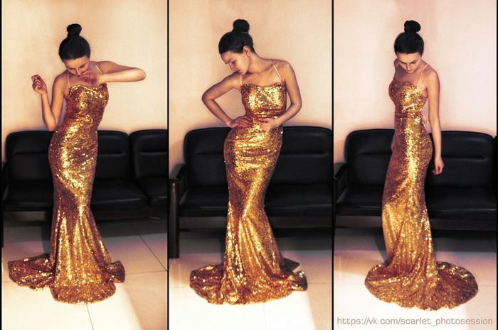 Dress Golden Today's Hot Look Girl