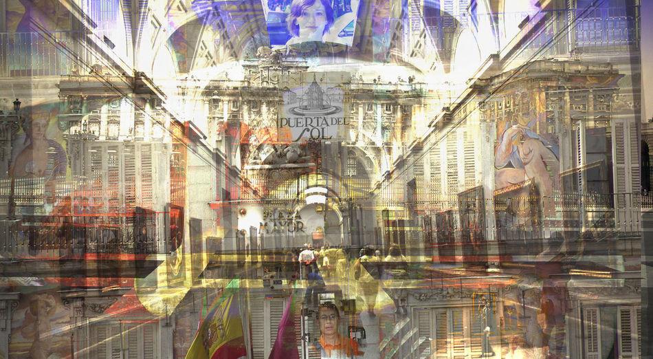 Architecture Art Building Exterior Built Structure City City Life Illuminated Sculpture Spain: Madrid´s Memories Statue