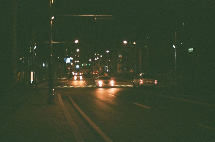 Street Photography Nightphotography Headlights Taking Photos Hello World Hi! Filmcamera Film Photography Kodak Color Plus200 NIKON FE2 35mm Camera 35mm Film