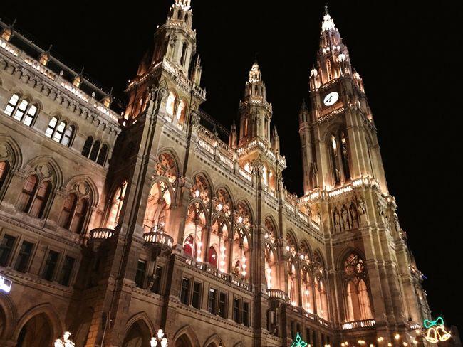 Viennacityhall Vienna Wien Austria Christmasmarket