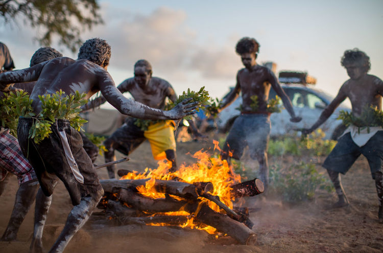 Australia Dance Bonfire Burning Ceremony Fire Group Of People Men Nature Outdoors The Traveler - 2018 EyeEm Awards