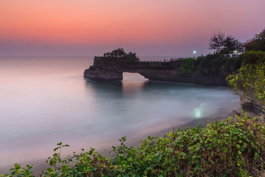Tanah lot, B|ali, Indonesia Bali INDONESIA Tanah Lot Temple Travel Traveling Architecture Beauty In Nature Built Structure Day Horizon Over Water Nature No People Outdoors Scenics Sea Sky Sunset Tanah Lot Travel Destinations Tree Water