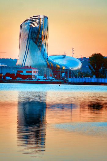 Bigfoot Water Reflection Sky Sea Sunset Waterfront Beach Built Structure Architecture Outdoors No People Clear Sky Nature Day Building Exterior Beauty In Nature Laciteduvindebordeaux The Architect - 2017 EyeEm Awards Architecture Steps And Staircases Eye4photography  Reflection Mirror EyeEm Best Shots EyeEm Masterclass