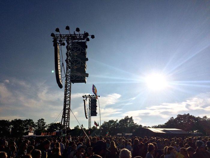 Roskilde Festival Festival Orange Stage Crowd Audience Sun Sky