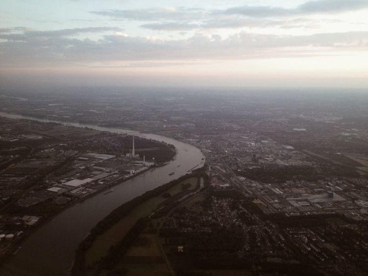 Hallo Rhein Rhein River Aerial View Photokina