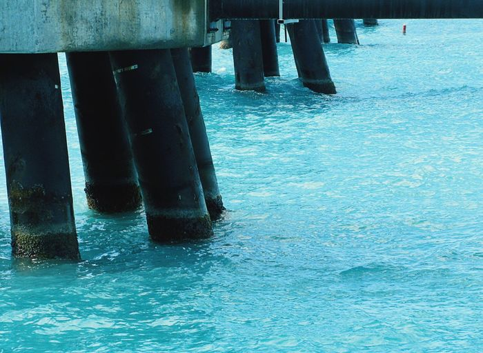 Caribbean Sea St. Thomas Surf's Up Sea Pier Ocean Water_collection Pillons