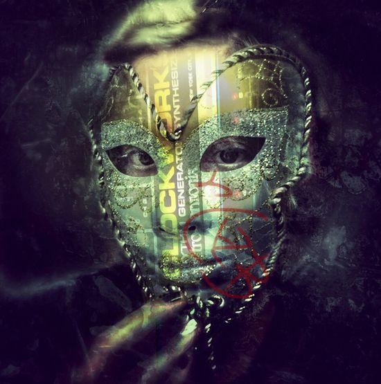 Masked perfection Self Portrait NEM Self Masters_of_darkness Darkart Multiple Layers Drummer Dvs