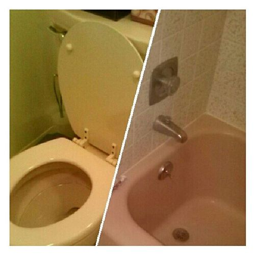 Another Nostalgia trip, pink potty and tub! Love Cute Moseslake
