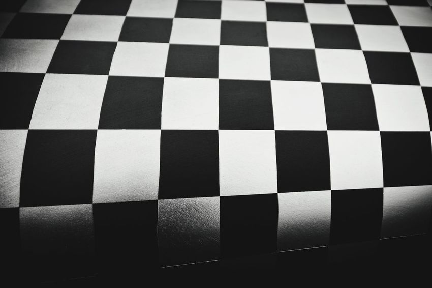 Chequered Abstract Checkered Chequered Black And White Squares