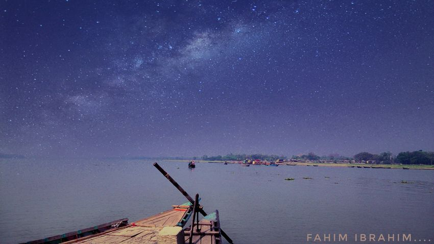 Star - Space Water Sky Nature Scenics Beauty In Nature Outdoors Night Sea Nautical Vessel Galaxy Astronomy People Mobilephotography Eyeembangladesh @anickchowdhurymp EyeEmNewHere