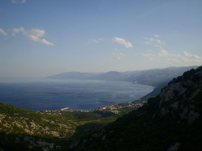 High Angle View Of Calm Sea Against Sky