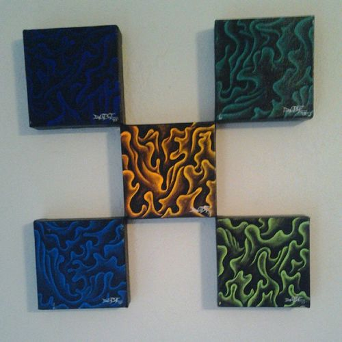 Neon series 5 piece - for sale $250 ART4SALE Art ACRYLICART Artist art4sale artwork PAINTING professionalartist sickart handmade hireme2paint4u