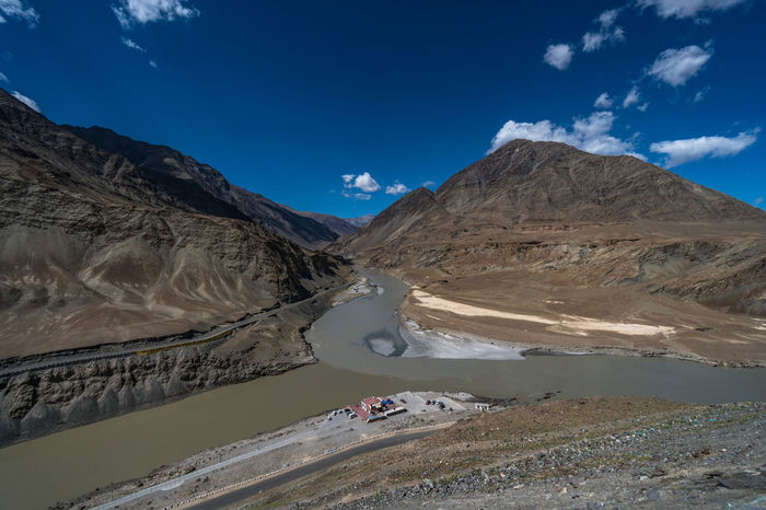 Himalayas North India Beauty In Nature Blue Cloud - Sky Day Geology Jammu And Kashmir Landscape Mountain Mountain Range Nature No People Non-urban Scene Outdoors Physical Geography Scenics Sky Snow Snowcapped Mountain Sunlight Tranquil Scene Tranquility Zanskar River