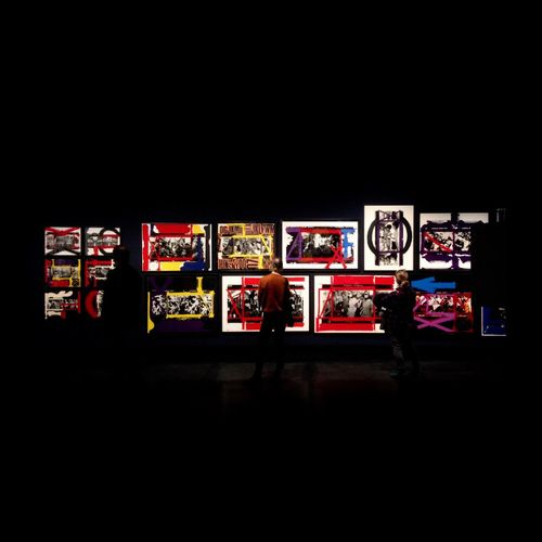 Variation Large Group Of Objects Multi Colored Photograph Black Background Williamklein Exhibition
