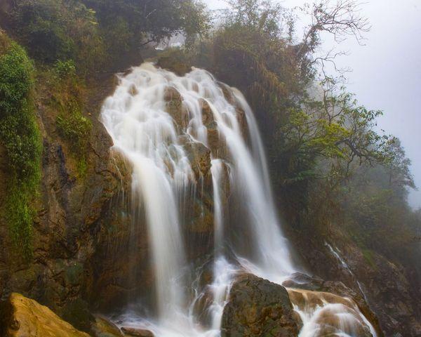Water-trace Waterfall Stream Travel Sa Pa Lào Cai Vietnam Long Exposure Exposure Shutter Speed Canon Photoshop Express Landscape