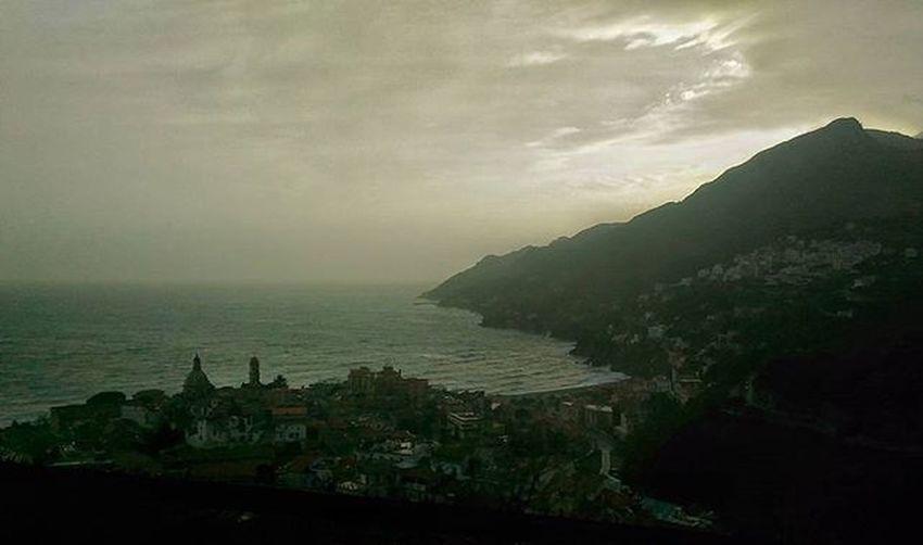 Si ritorna alla Base Vietrisulmare Costieraamalfitana Amalficoast Comeback Home Instapic Insagram Likers Vivoinunpostobellissimo Salerno Landscape Sky Skyporn Clouds Sea