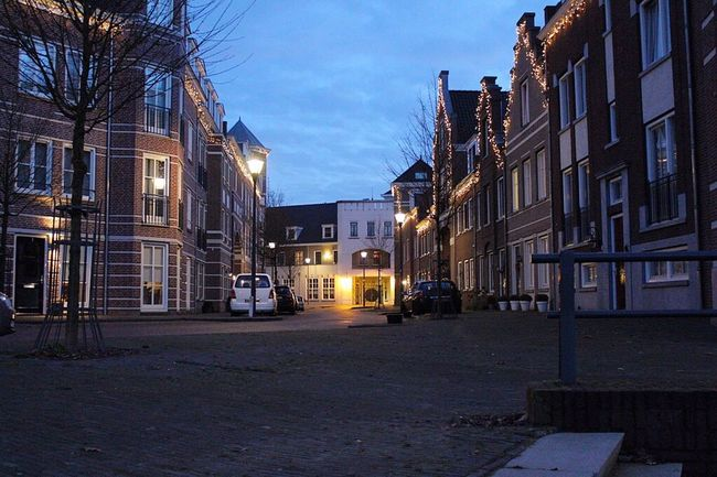 Building Exterior Street Architecture Built Structure Road Night Christmas Lights Christmas Decorations Christmas Decoration Christmastime Christmas Time Christmas Around The World Lights Light Houses And Windows Brandevoort Helmond