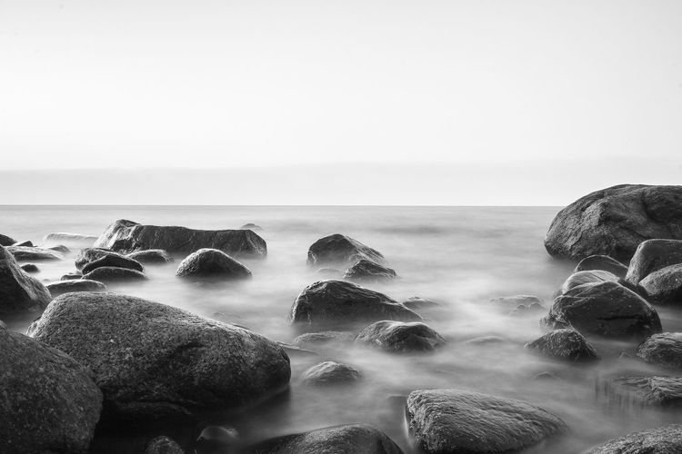Baltic Sea Baltic Sea Winter Beach Beauty In Nature Blackandwhite Blackandwhite Photography Day Horizon Over Water Long Exposure Nature No People Outdoors Pebble Rock - Object Rügen Scenics Sea Sky Water Winter