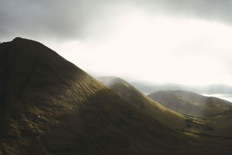 Dramatic Sky Glencoe Nature Tranquility Abstract Beauty In Nature Day Dramatic Dramatic Landscape Fog Landscape Light And Shadow Mist Mountain No People Outdoors Peak Physical Geography Scenery Scenics Scottish Highlands Sky Tranquil Scene Travel Destinations Wilderness