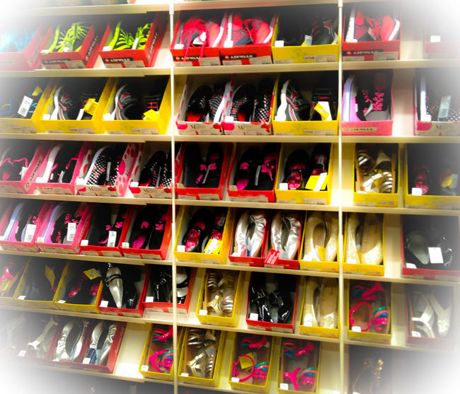 In A Row Shelf Retail  Variation Store Choice No People Large Group Of Objects Indoors  Supermarket Shoes Sandles LadiesONLY  Ladiesfashionstore Happy Shopping Shopping Girl Millennial Pink